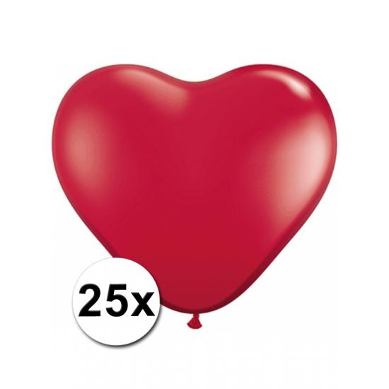 25x Hart ballonnen rood