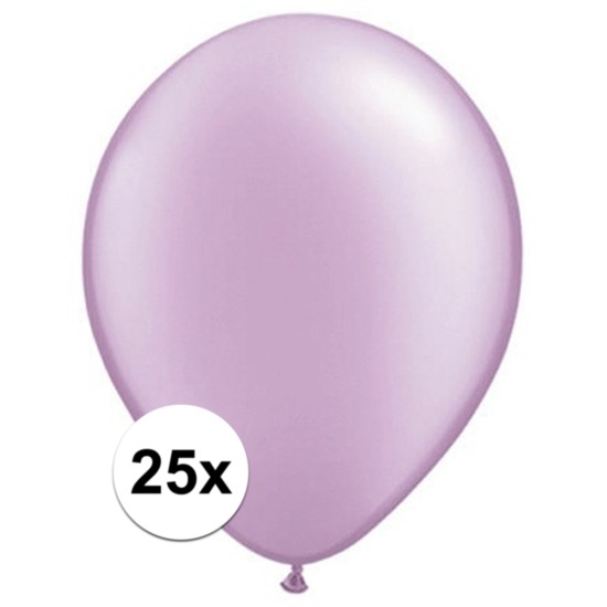 25x Parel lavendel Qualatex ballonnen