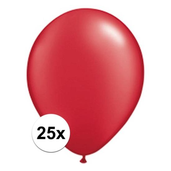25x Ruby rode Qualatex ballonnen