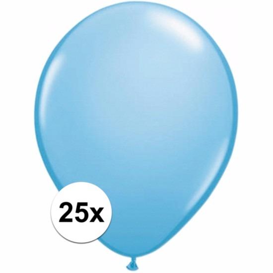 25x Voordelige lichtblauwe ballonnen