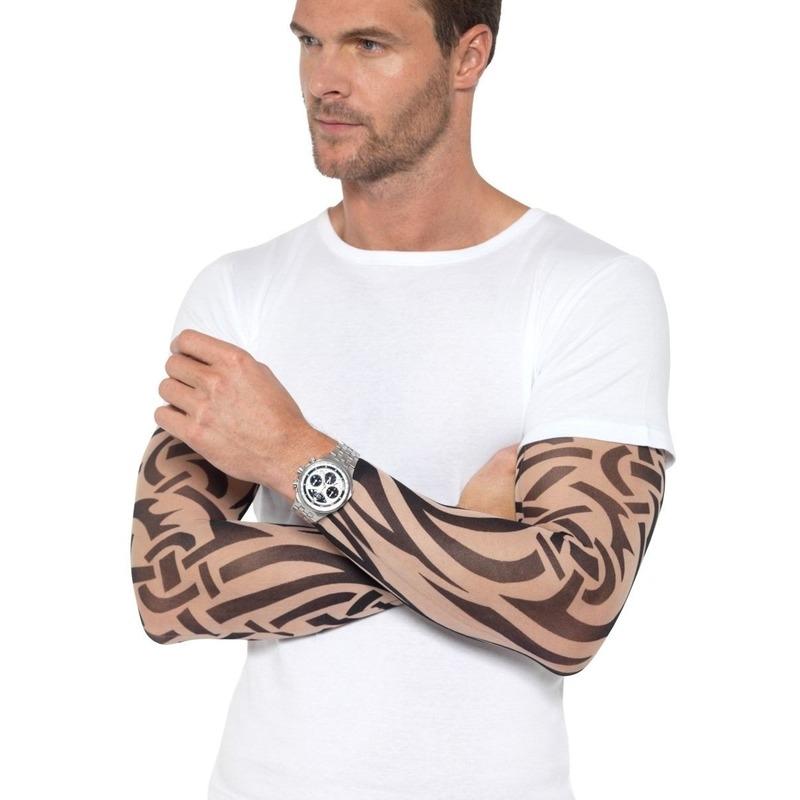 2x Tattoo sleeves tribal voor volwassenen