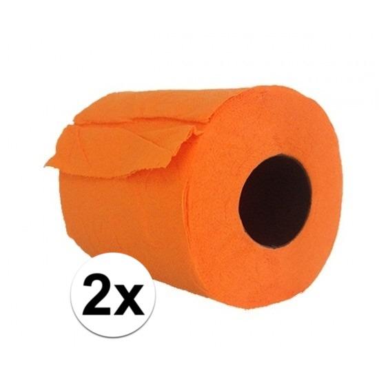 2x WC papier oranje