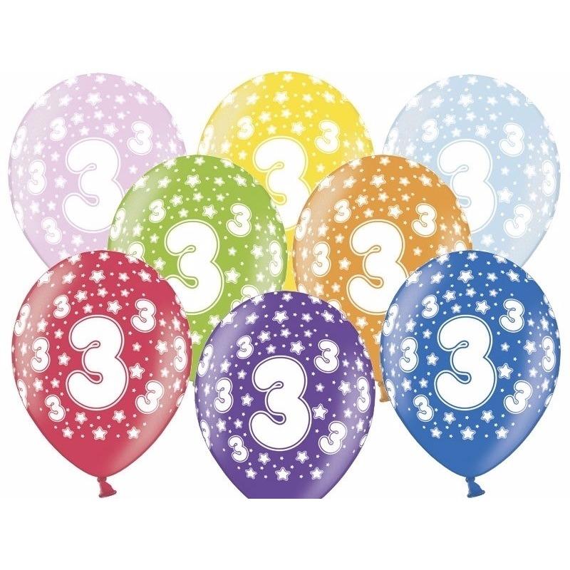 3 jaar ballonnen met sterren