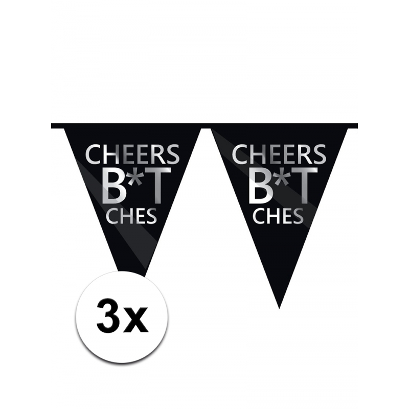 3 x Fuck verjaardagsvlaggenlijn