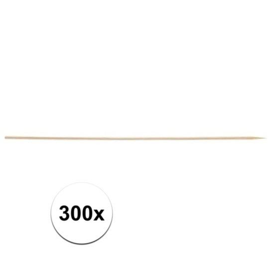 300x Houten hapjes prikkers 20 cm
