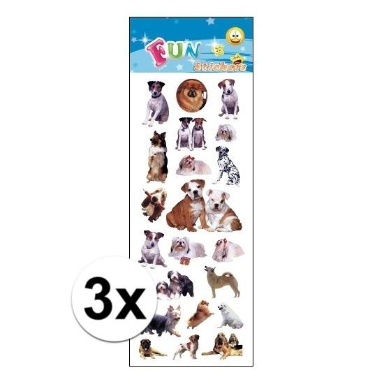3x Kinder honden stickers