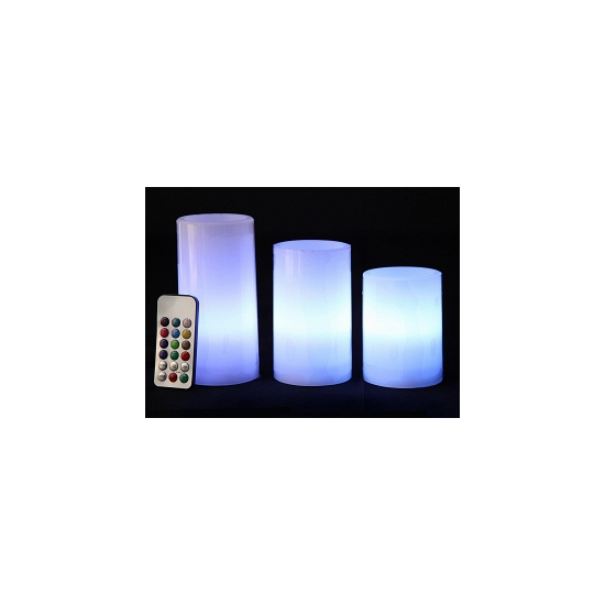 3x Kleurveranderende LED kaarsen met afstandsbediening en timer