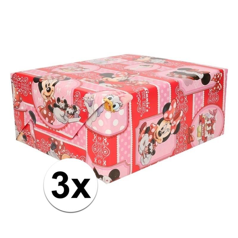 3x Minnie Mouse cupcake geschenkpapier