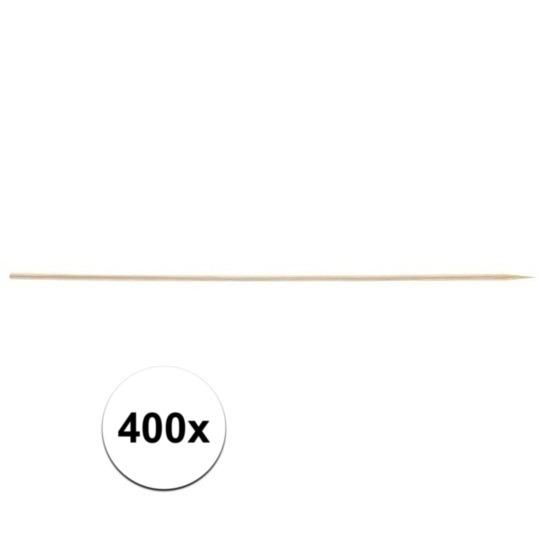 400x Houten hapjes prikkers 20 cm