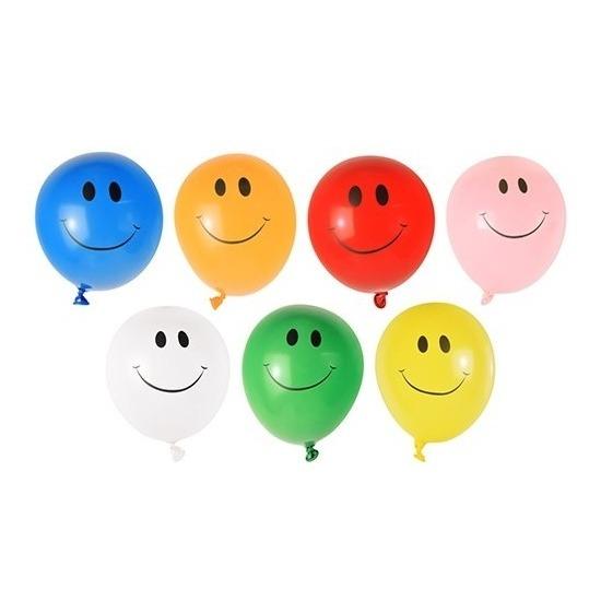 40x Watergevecht ballonnen met smiley gezichten