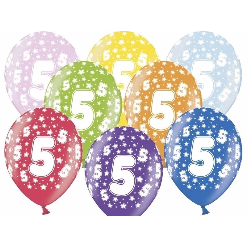5 jaar ballonnen met sterren