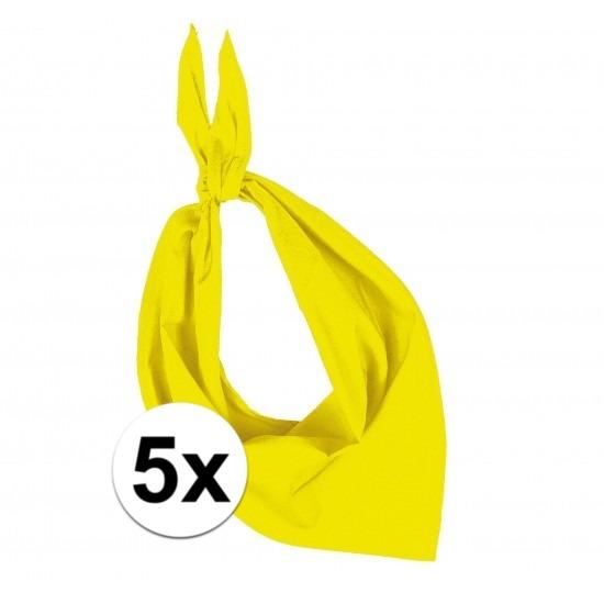 5 stuks geel hals zakdoeken Bandana style