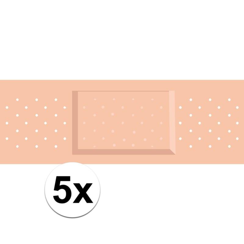 5 x Verkleed pleister sticker verpleegster/chirurg outfit
