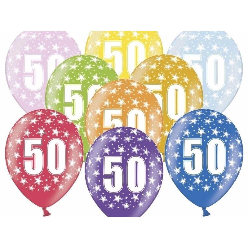 50 jaar ballonnen met sterren