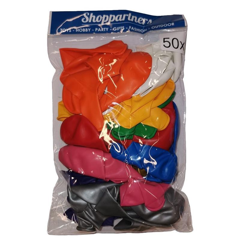 50 stuks ballonnen in verschillende kleuren