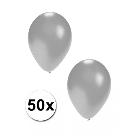 50 stuks zilveren ballonnen