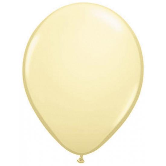 50x ballonnen metallic ivoor