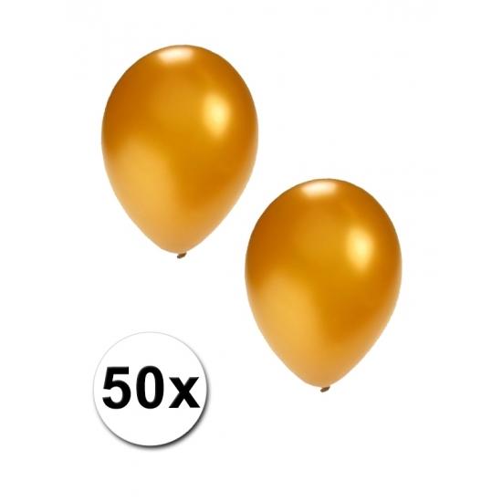 50x Gouden grote ballonnen