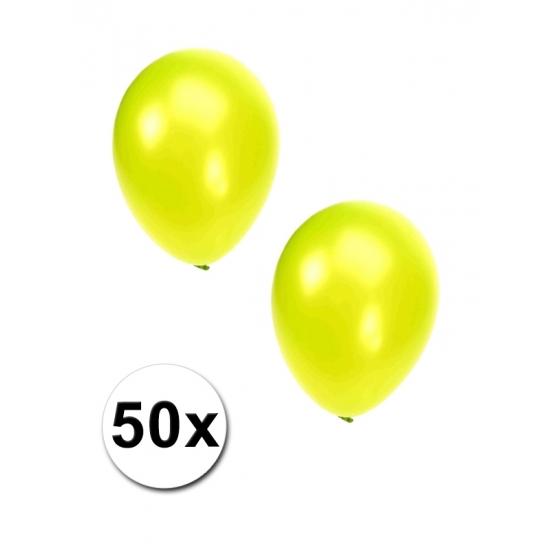 50x Lime grote ballonnen