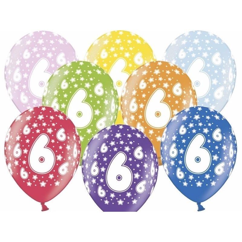 6 jaar ballonnen met sterren