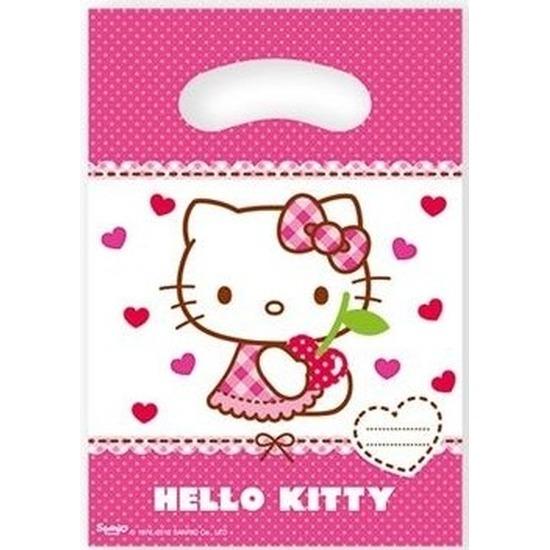 6x Hello Kitty feest uitdeelzakjes