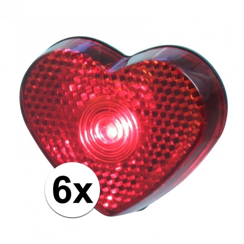 6x stuks Hartjes LED lampje