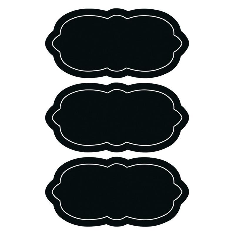 6x Voedsel labels krijtbordstickers 7 cm
