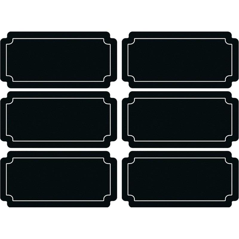 6x Voedsel labels krijtbordstickers
