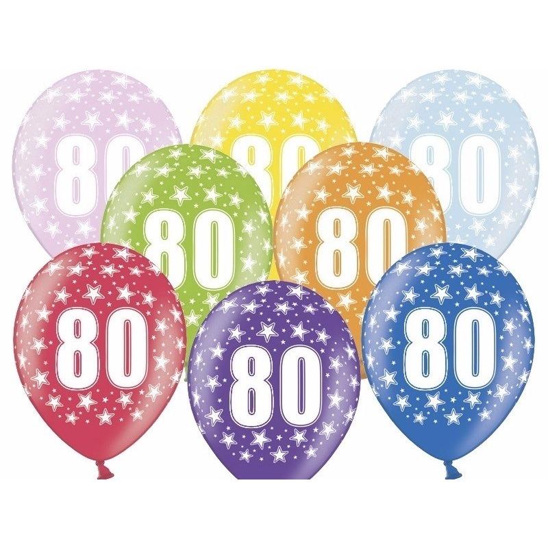 80 jaar ballonnen met sterren
