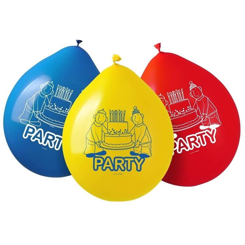 8x Buurman & Buurman ballonnetjes versieringen