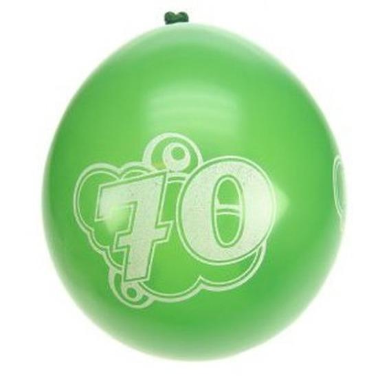 8x Gekleurde feest ballonnen 70 jaar versiering