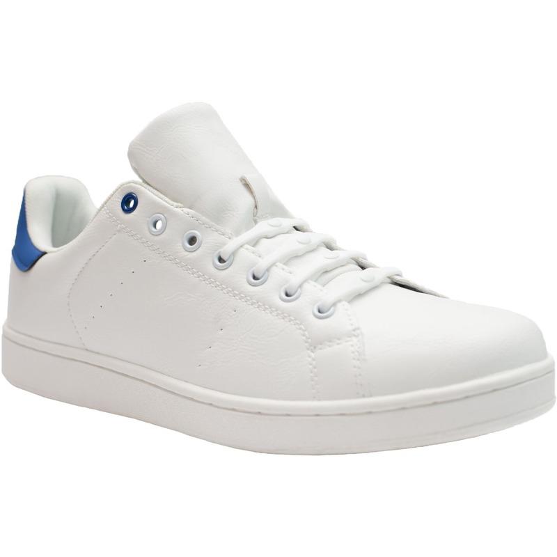 8x Witte schoenveters elastisch/elastiek siliconen voor brede voeten/schoenen