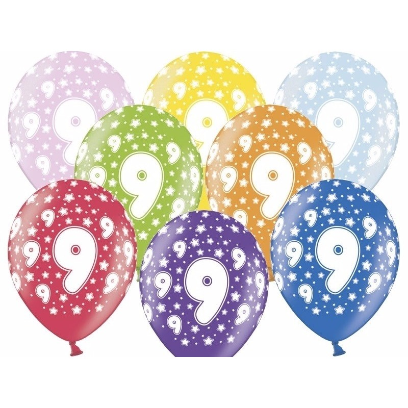 9 jaar ballonnen met sterren