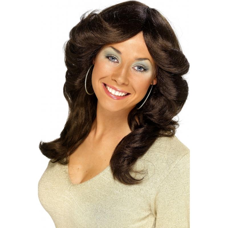 Abba look damespruiken bruin haar