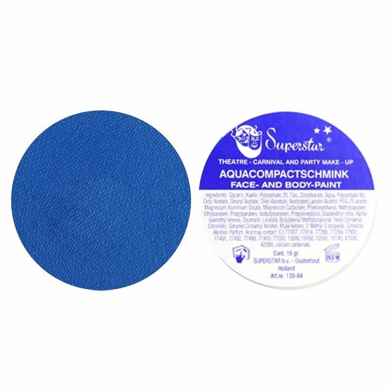 Aqua schmink blauw