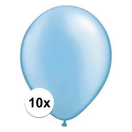 Azure blauwe Qualatex ballonnen 10 stuks