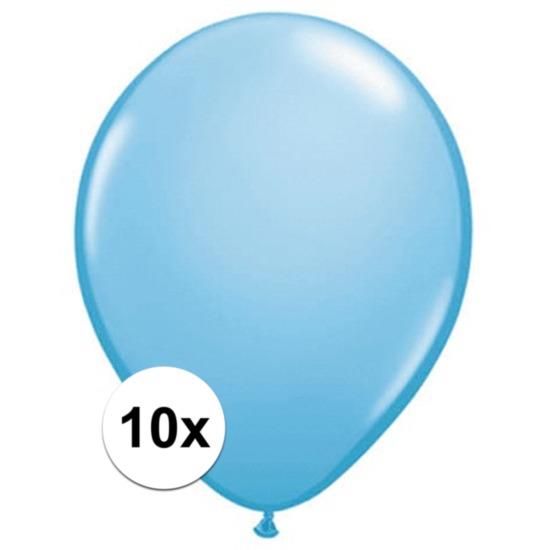 Baby blauwe Qualatex ballonnen 10 stuks