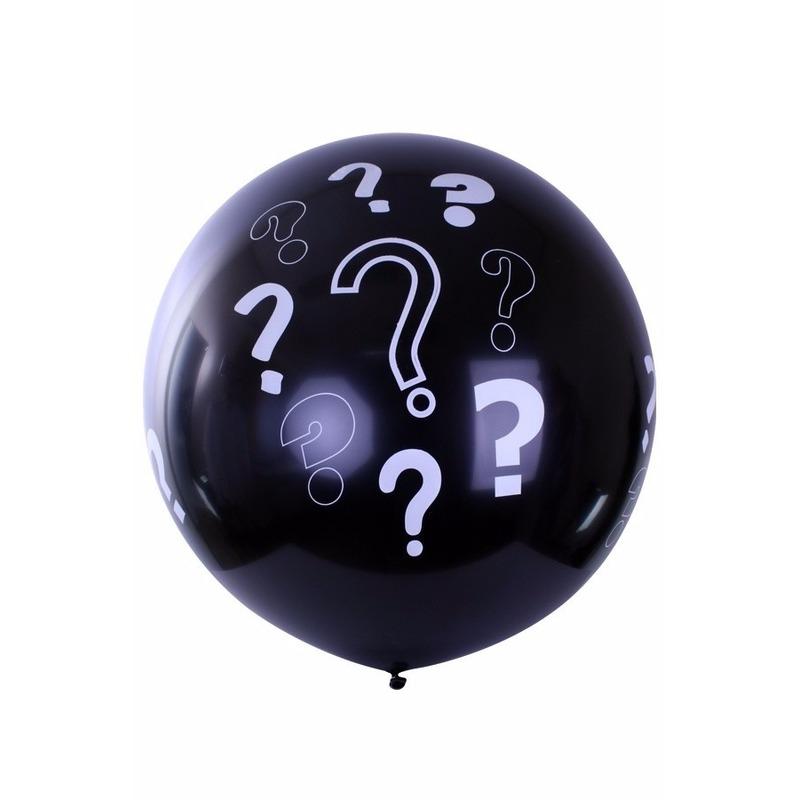 Baby gender ballon zwart 90 cm