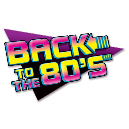 Back to the eighties muurbord