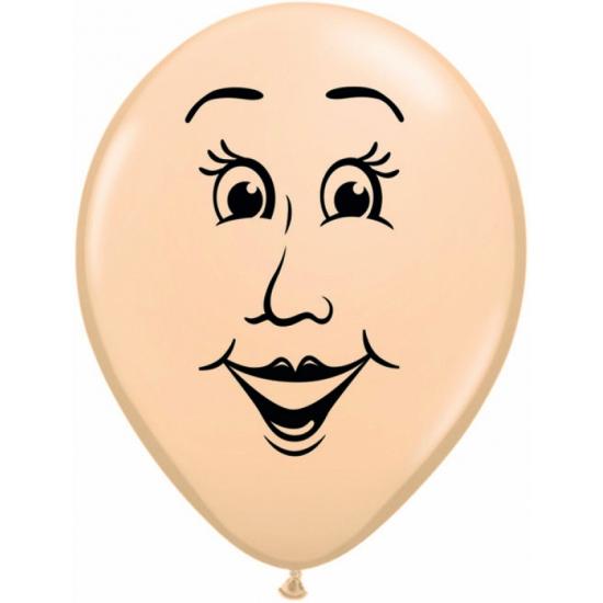 Ballon met vrouw gezicht 40 cm