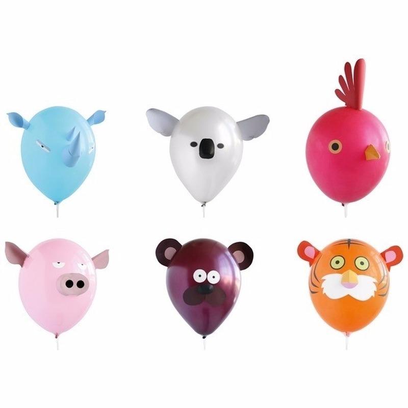 Ballonnen met dierenkop 6x