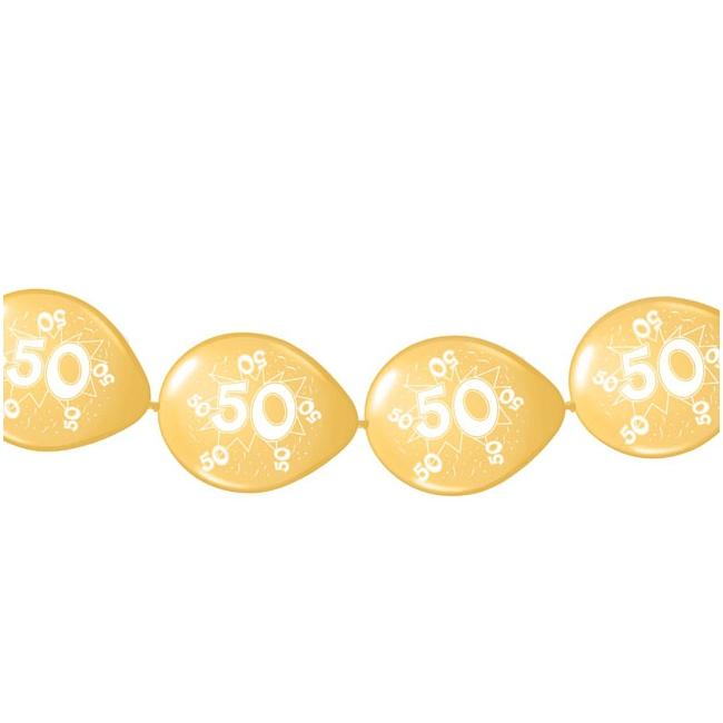 Ballonslinger 50 jaar 8 stuks