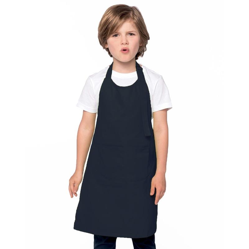 Basic keukenschort navy voor kinderen