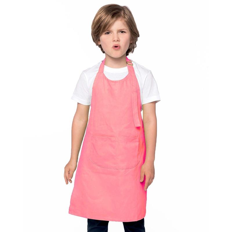 Basic keukenschort roze voor kinderen