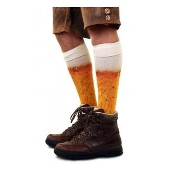 Bier kousen voor heren maat 43-46
