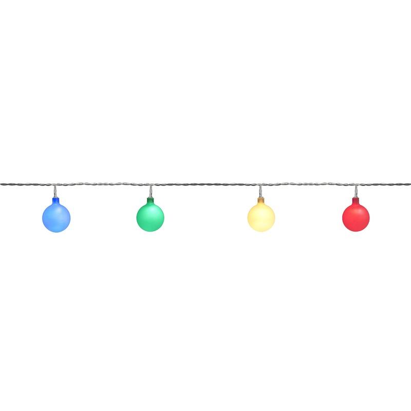 Binnen-buiten verlichting lichtsnoer 10 meter met gekleurde LED lampjes