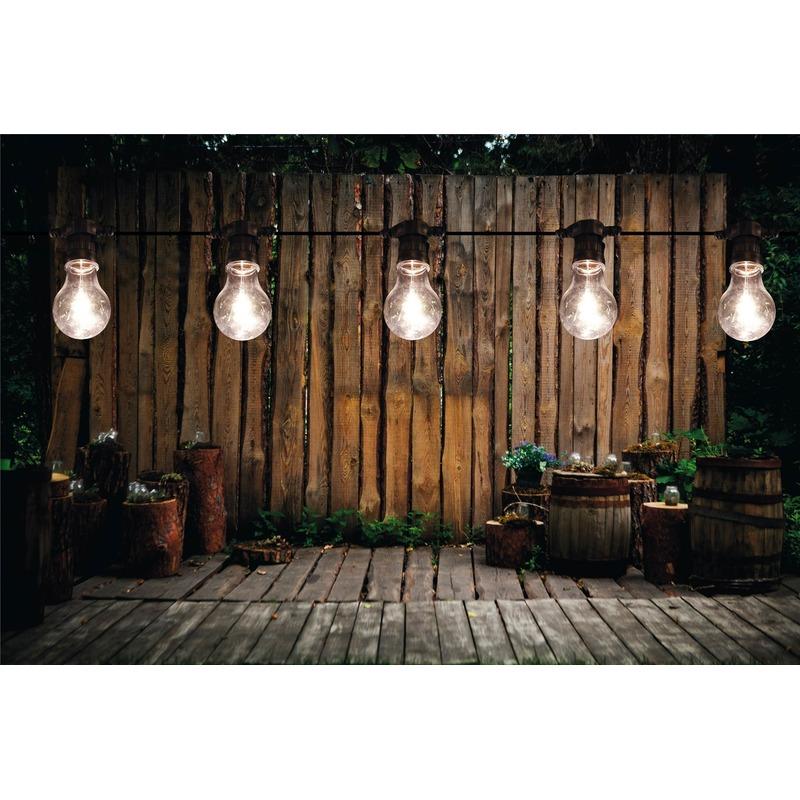 Binnen/buiten verlichting lichtsnoer 5 meter met warm witte LED lampjes