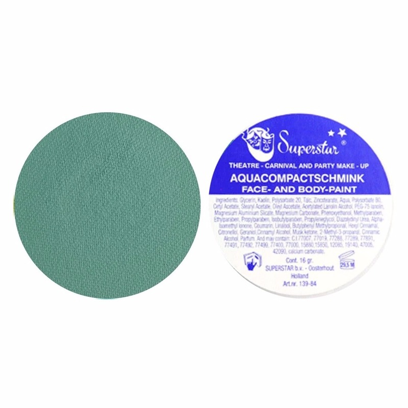 Blauw - groene schmink Superstar