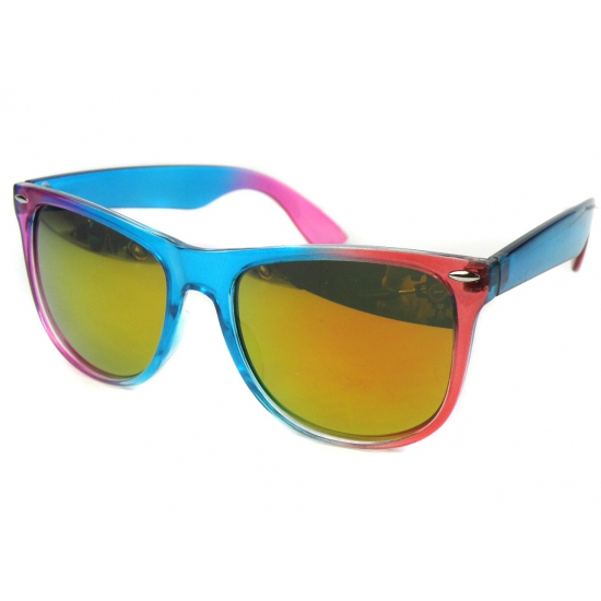 Blauw met roze festival bril