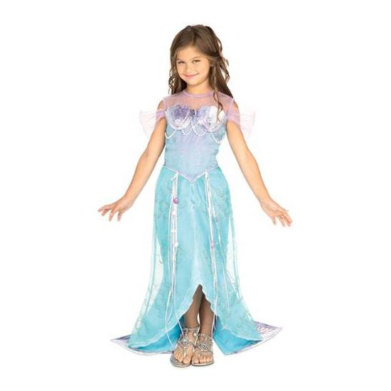 Blauw zeemeermin prinses jurkje voor meiden